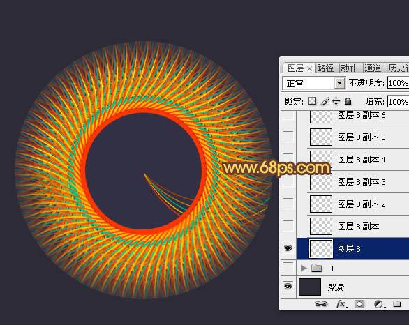 Photoshop彩色教程v彩色实例丝线编织的立体图cameraraw9.7教程图片