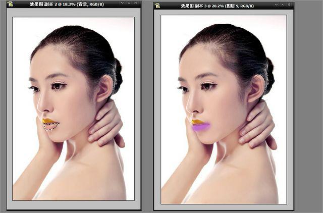 为素颜美女照片添加漂亮的彩妆效果