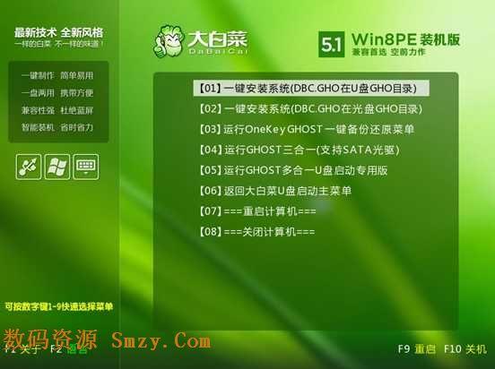 大白菜u盘装系统综合教程 - win7/8原版系统的安装