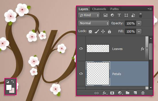ps文字教程 打造唯美时尚的春季花朵字效果