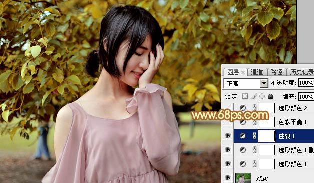 Photoshop打造数码美女色公园美女图片-晨曦国阳光阿富汗图片
