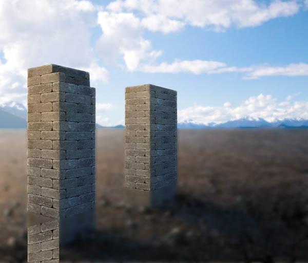 利用Photoshop为风景图片添加水面结冰效果 图6