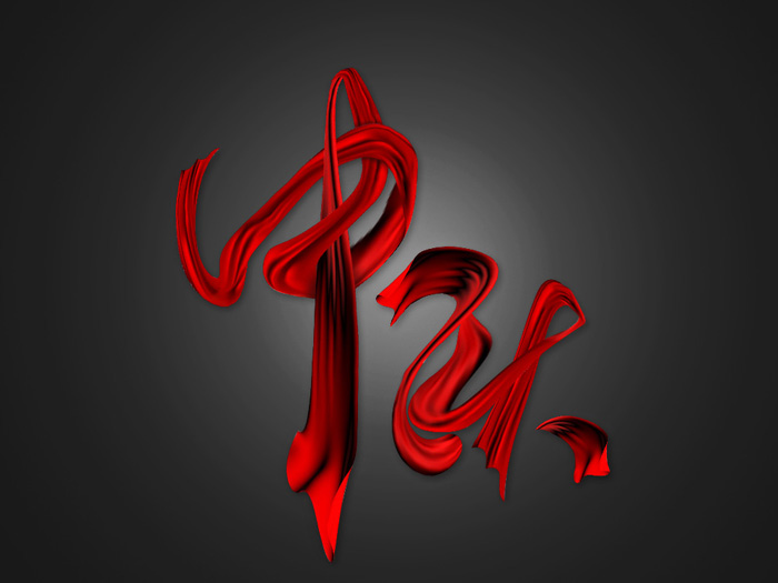 中秋节红色飘带字photoshop文字制作教程