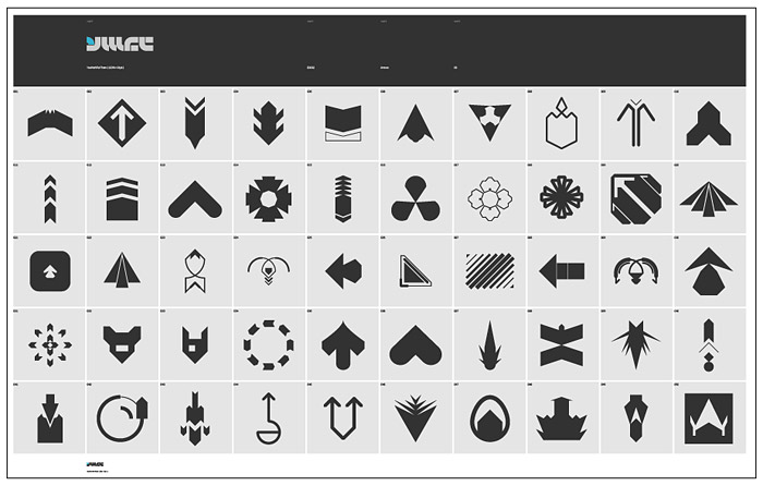 箭头图标系列eps矢量图(六)