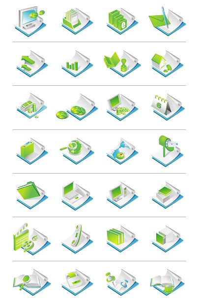 办公用品主题矢量图标下载 - 数码资源网
