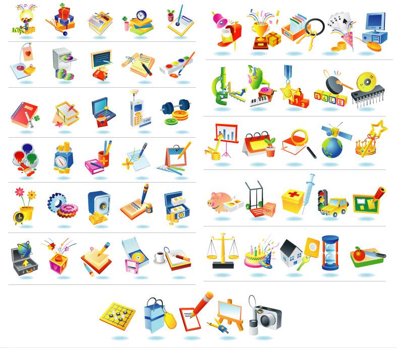 韩国矢量图标素材精选,包括围棋,购物袋,相机,等图标…&hellip