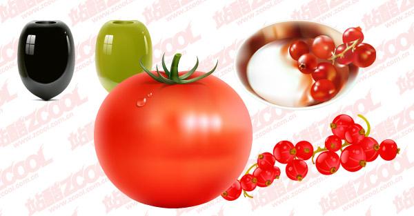 蔬菜水果矢量图2下载 - 内含西红柿 - 数码资源网