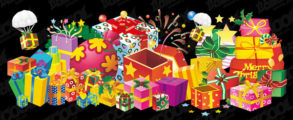 各种礼物礼品盒矢量素材