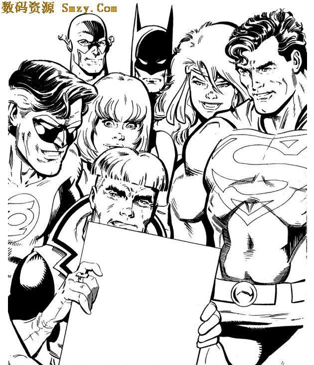 超人小孩头像黑白