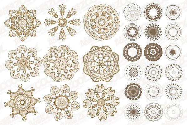 古典圆形花纹矢量图图片