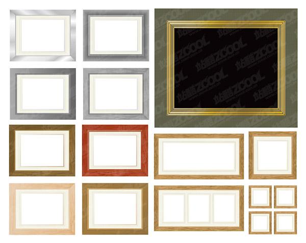 多款画框相框矢量图