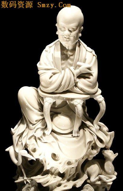 罗汉雕塑psd素材