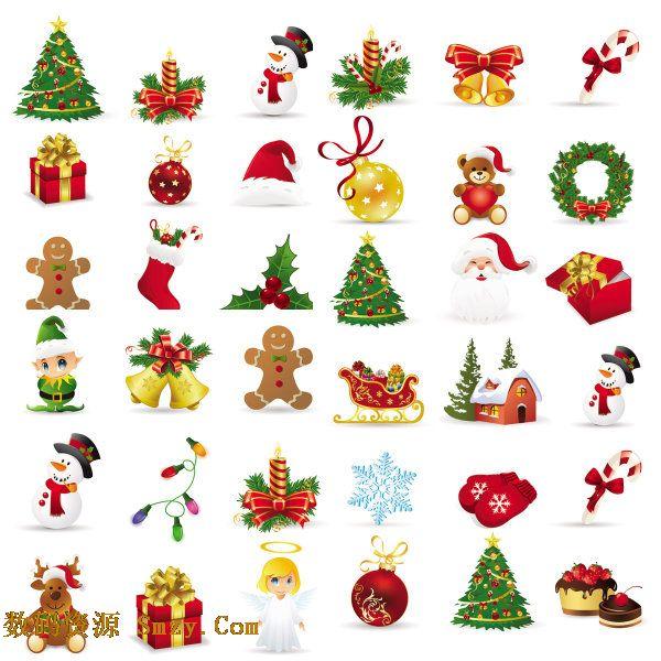 精美圣诞节主题图标矢量素材下载 - 数码资源网
