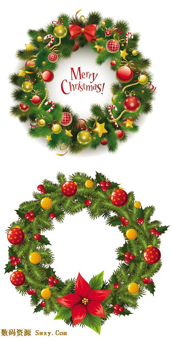 圣诞节装饰素材花环