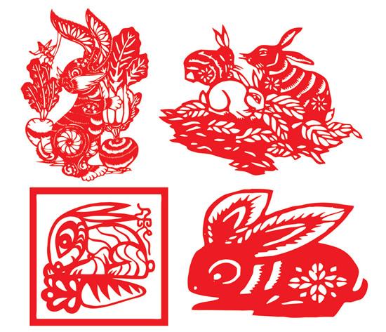 剪纸活动历来是中国传统的民风民俗,每逢佳节都会悄然出现在百姓的窗户及门楣上,2011兔年剪纸图片PSD素材以2011年兔年为主题,所有的剪纸都围绕着可爱的福兔进行创作,有抱着萝卜的兔子剪纸,也有印章效果的兔子剪纸等,效果见下面的JPG预览图。