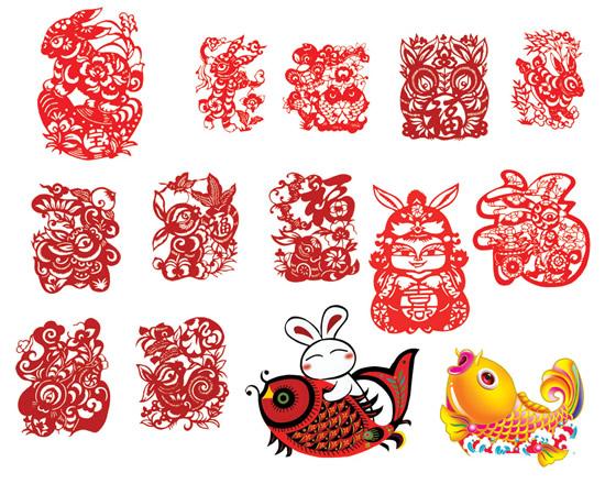 鞭炮齐鸣,红红的灯笼高高挂在门上,浓郁的新春气息怎么能没有剪纸,兔年吉祥春节横幅PSD素材为你提供了14种想像不同的剪纸素材,图片中不仅拥有中国最传统的剪纸图形设计,还融入了,拥有色彩的卡通剪纸图像,具体内容请见JPG图片,小编为你推荐收藏!