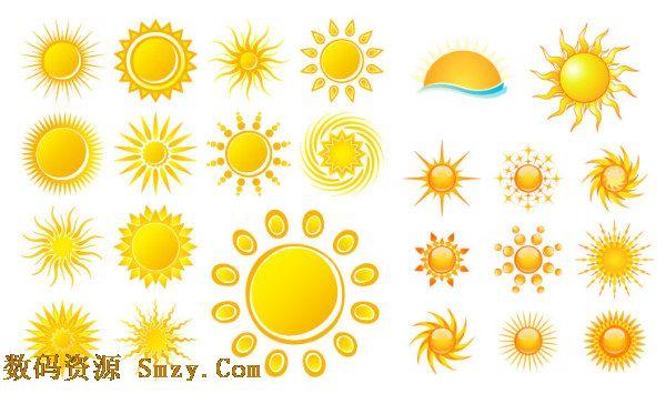 多款太阳图标矢量素材