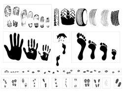 潮流彩色手印主题矢量图素材图片