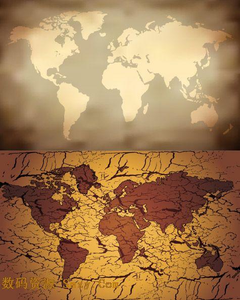 世界地图矢量素材下载