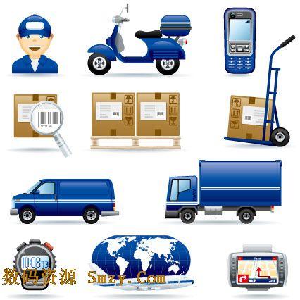 快递货运公司系列图标矢量素材