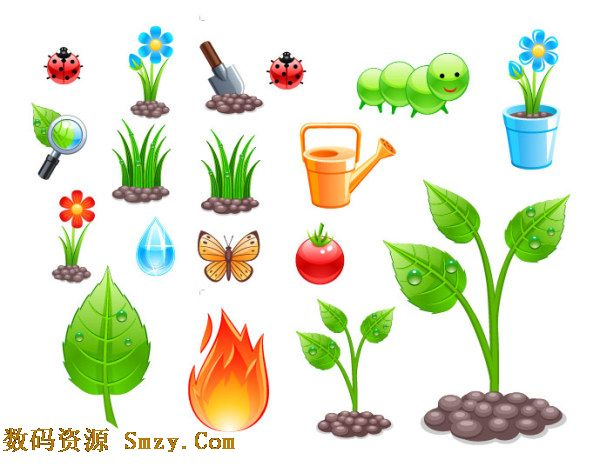 春天种植主题矢量图