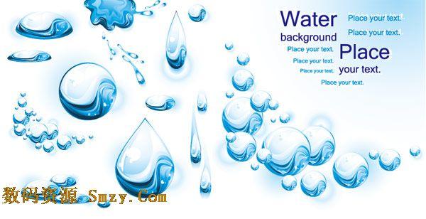 水珠水泡水滴系列水元素矢量素材图片