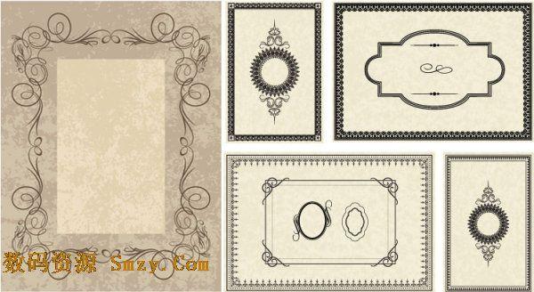 精美古典回字纹花纹边框矢量素材