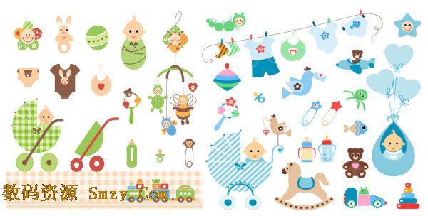 含有多种婴幼儿相关的玩具,服饰和婴幼儿用品.图片