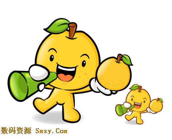 可爱卡通水果人物形象矢量素材2