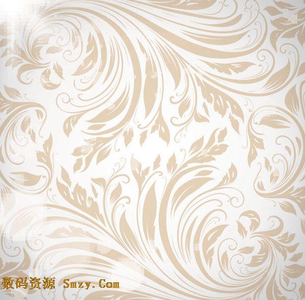 金色花纹底纹背景. 欧式古典花纹背景. photoshop树叶花纹.
