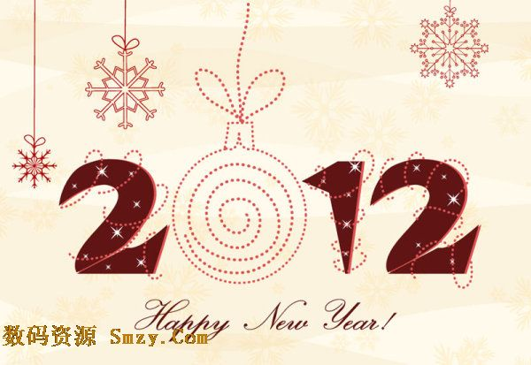 2012字体设计图 之2012圣诞艺术字体