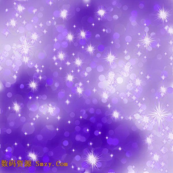 璀璨紫色星光背景矢量图素材