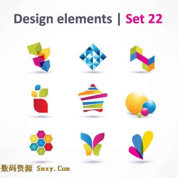 精美立体logo标志矢量素材