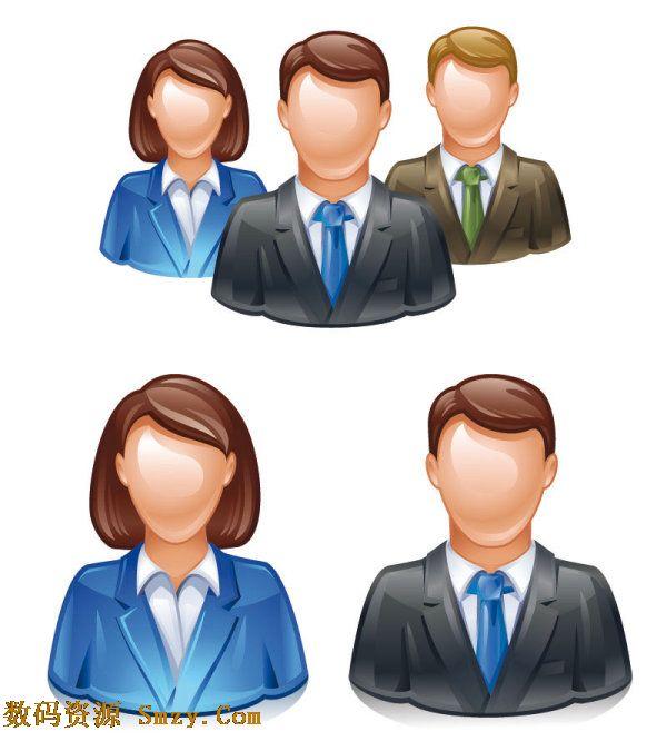 3d立体人物头像图标矢量素材