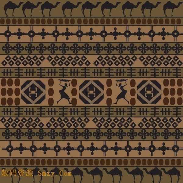 非洲风格花纹背景矢量图片素材