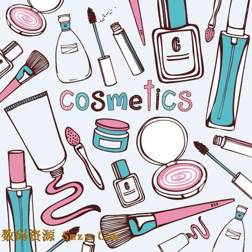 化妆用品手绘图片素材