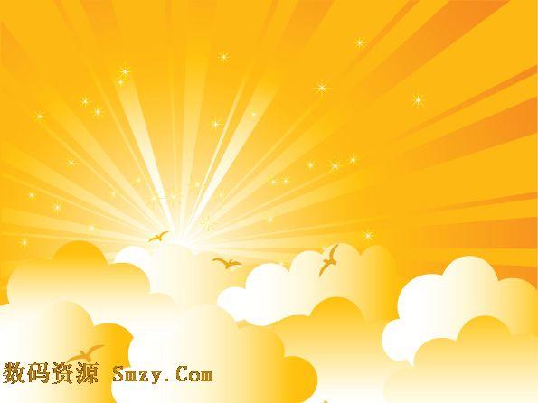 光芒四射的太阳背景矢量图片素材