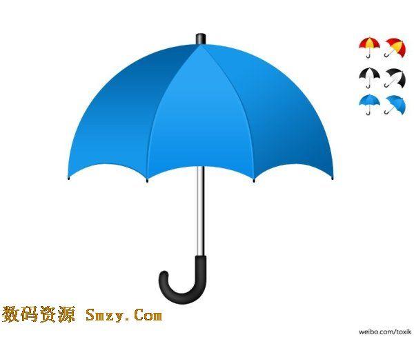 雨伞图片黑白矢量图