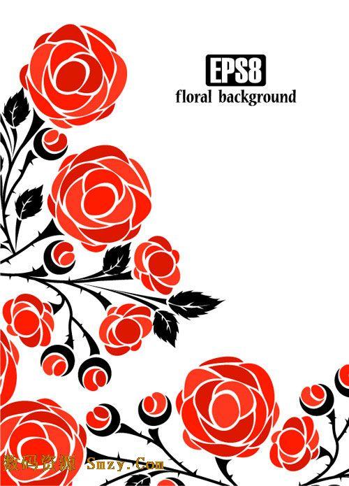标签:玫瑰花纹 推荐软件:蓝色欧式花纹背景矢量素材  这是一张以玫瑰