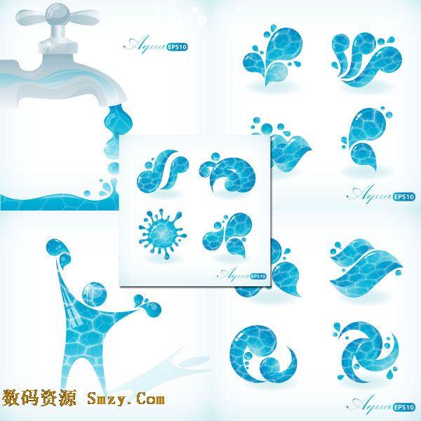 水元素主题图案矢量素材