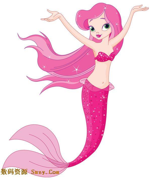 可爱 美人鱼/可爱卡通美人鱼图片矢量素材的软件界面