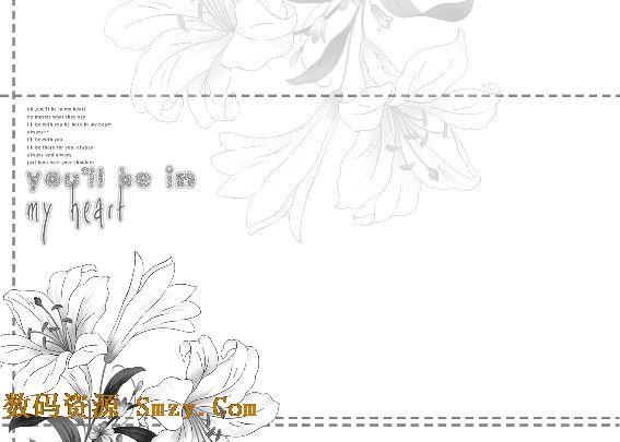 等元素所设计制作而成,类属于婚纱照psd模板 简约风尚系列中第三张,在