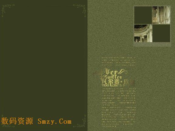 淡绿色花纹欧式壁纸贴图素材