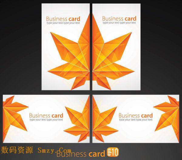 枫叶图形卡片名片矢量素材