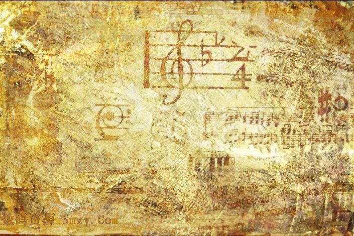 复古音符乐谱背景图片素材