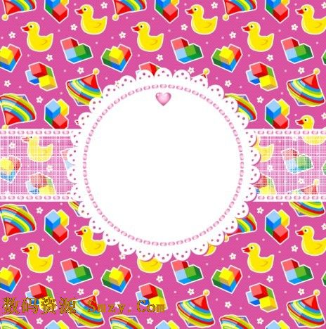 积木小鸭子卡通背景矢量素材
