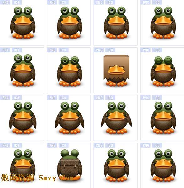 青蛙这种动物从小课本里就有描述,网络流行的今天,他也变身成为图标图片