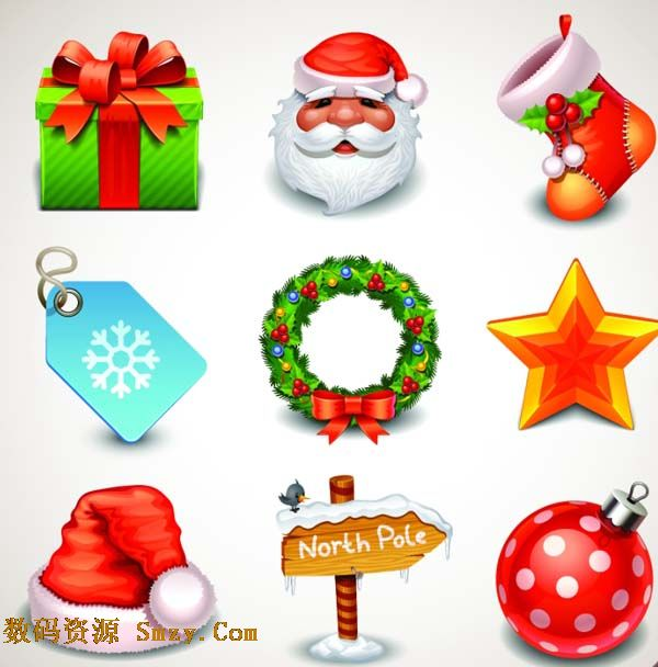 圣诞节日物品图片矢量素材