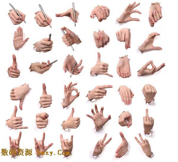 聋哑语言之手语手势高清图片下载