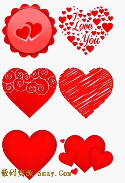 红色心形爱情图标